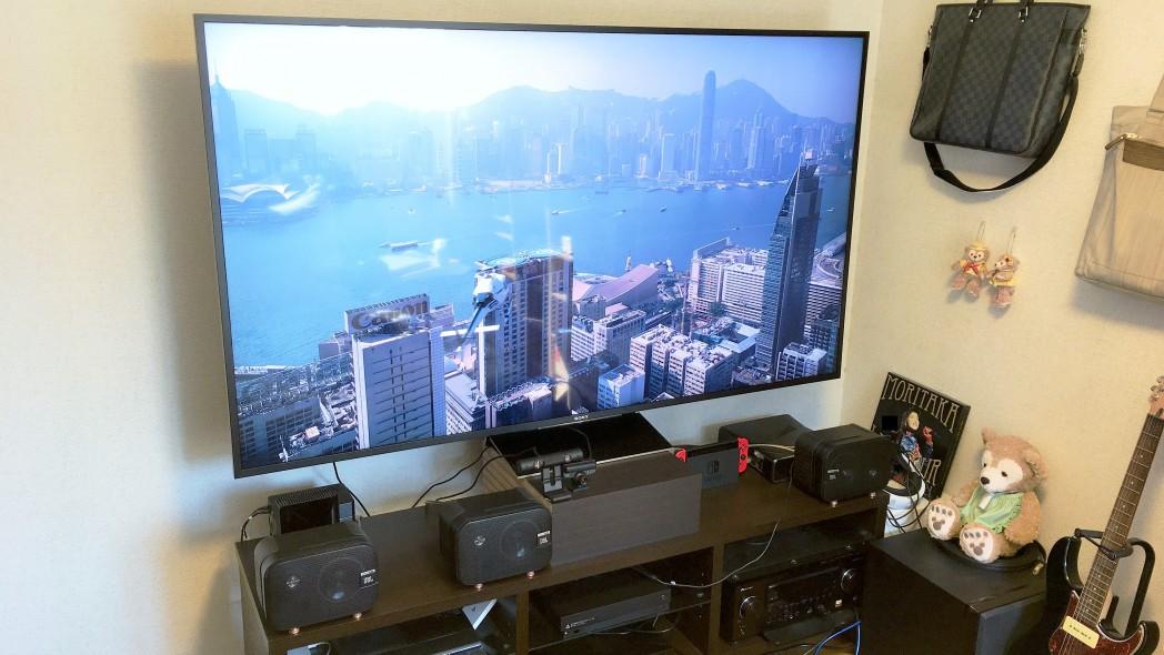 【体験談】6畳間の狭い部屋でも75インチ大型テレビ設置は視聴距離があれば大丈夫!の記事のアイキャッチ画像